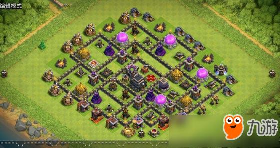 部落冲突9本冠军杯原创阵型:城堡中置女王女置