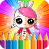 Coloring Book Surprise Doll
