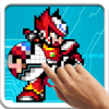 Color By Number Superhero Coloring Book Pixel Art