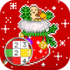 Christmas Color by Number – Merry Xmas Pixel Art