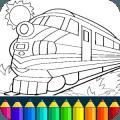 火车着色游戏