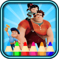 coloring wreck it ralph fans