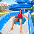 速度 滑动 水 公园: 水 滑动 游戏