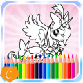 Coloring Unicorn Pony Page