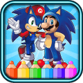 coloring sonic dach game for fans