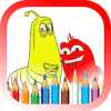 Coloring pages Larva worm games free