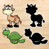 Animals Puzzles : Kids Wooden Blocks Learning Game