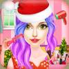 Christmas Girls Hair Styles & Makeup Artist Salon