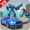 US Police Car Robot Wild Horse Transformation Game