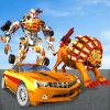 Ultimate Wild Lion Robot: Car Robot Transform Game