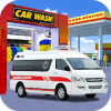 Ambulance Car Washing:Best Car Parking Game