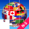 Jigsaw Puzzle National Flags NS - Educational Game