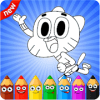 Gumballl Coloring For kids
