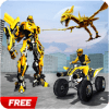 Futuristic Robot Quad Bike Dinosaur Survival Game