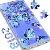 Lavender Diamonds Puzzle Game