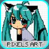 Anime Pixel Art - Sandbox Number Coloring