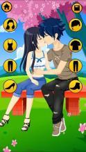 couple kissing dress up games