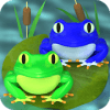 Frogs row - Color lines puzzle