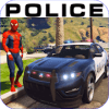 Superhero Police Chase :Furious Cop Car