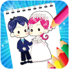 Bride and groom Coloring Game for kids