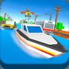 Blocky Water Surfing Highway Simulator