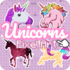 Color by Number Unicorn Pixel unicorn coloring
