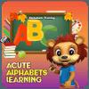 Acute Abc tracing workbookkids alphabet worksheet