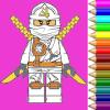 coloring ninja power turtle leggo
