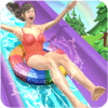 Water Parks Extreme Slide Ride  Amusement Park 3D