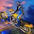彩色特技竞速摩托