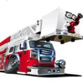 3D城市豪華消防車