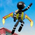 噴氣飛行火柴人