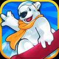 北极熊滑雪