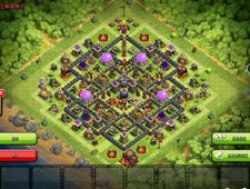 《部落冲突》十本地狱塔竖置 完美对称阵型