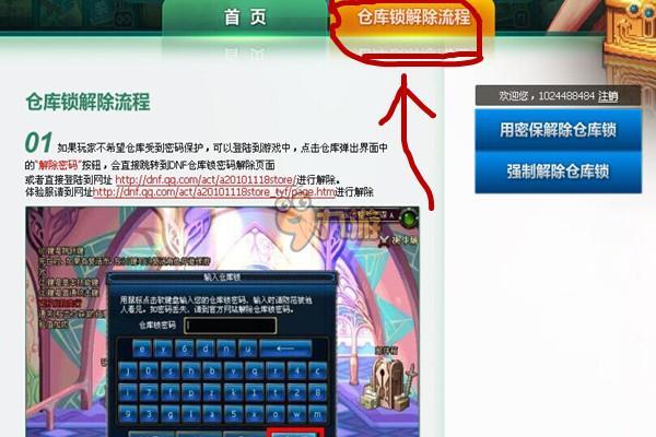 dnf仓库密码_DNF仓库密码解除方法 DNF仓库密码怎么强制解除_九游手机游戏