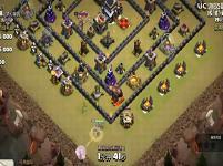 《部落冲突》9本打9本 石头人、女武神、法师霸气三星比赛!