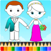 Bride and Groom Wedding Coloring Pages 2