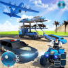US Police Limousine Car: Truck Transporter Game