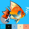 Fish Color By Number, pixel fish coloring