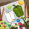Vegetables Coloring Book games for kids