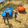 Superheroes Lightning Mcqueen Stunt Racing Games