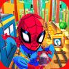 Superhero Spider Kids Run Games