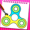 Fidget Spinner Color Book & Drawing Pad