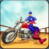 US Captain Bike Vs Mega Ramp: Superhero Stunt Race