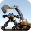 Excavator Robot Warrior Transformation Battle