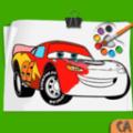 汽车着色绘画