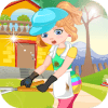 Clumsy gardener laundry  Games For Girls