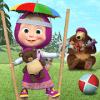 儿童游戏:玛莎和熊