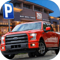 购物中心汽车和卡车停车场