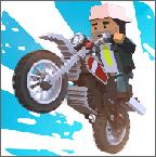 模拟方块摩托车